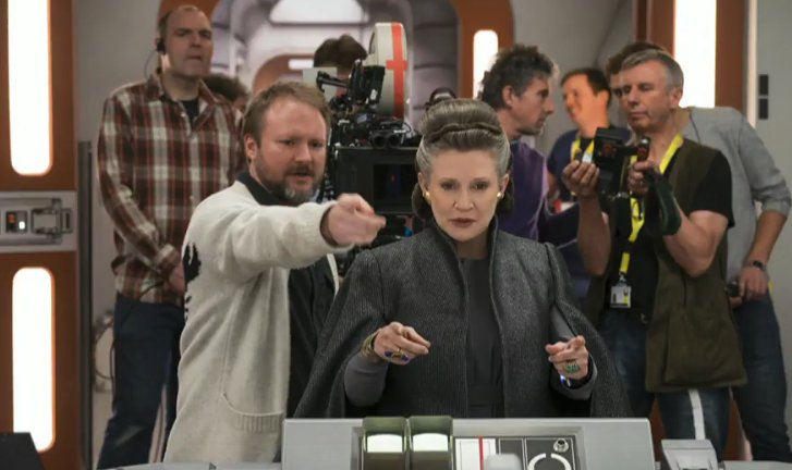 Carrie Fisher the last jedi behind the scene